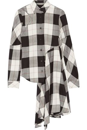 MM6 MAISON MARGIELA Asymmetric checked twill shirt