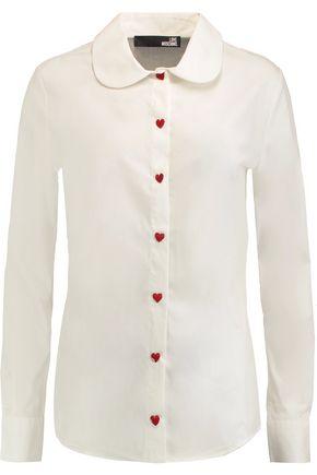LOVE MOSCHINO Stretch cotton-poplin shirt