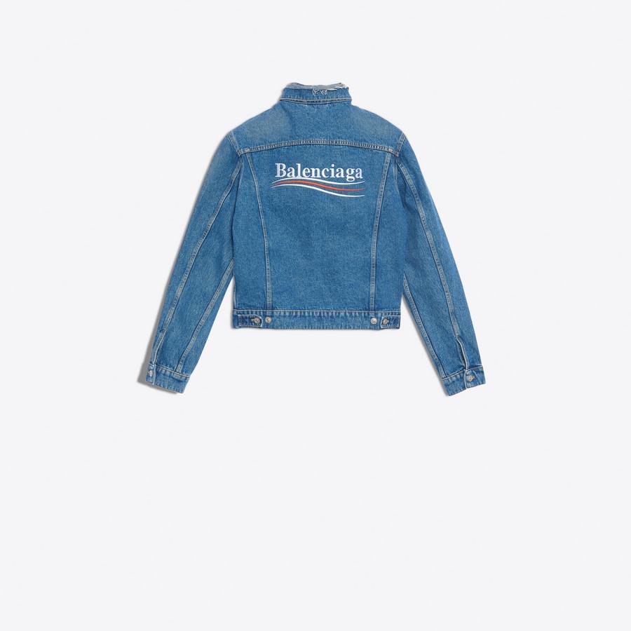 BALENCIAGA Classic Denim Embroidered Jacket Denim Man d