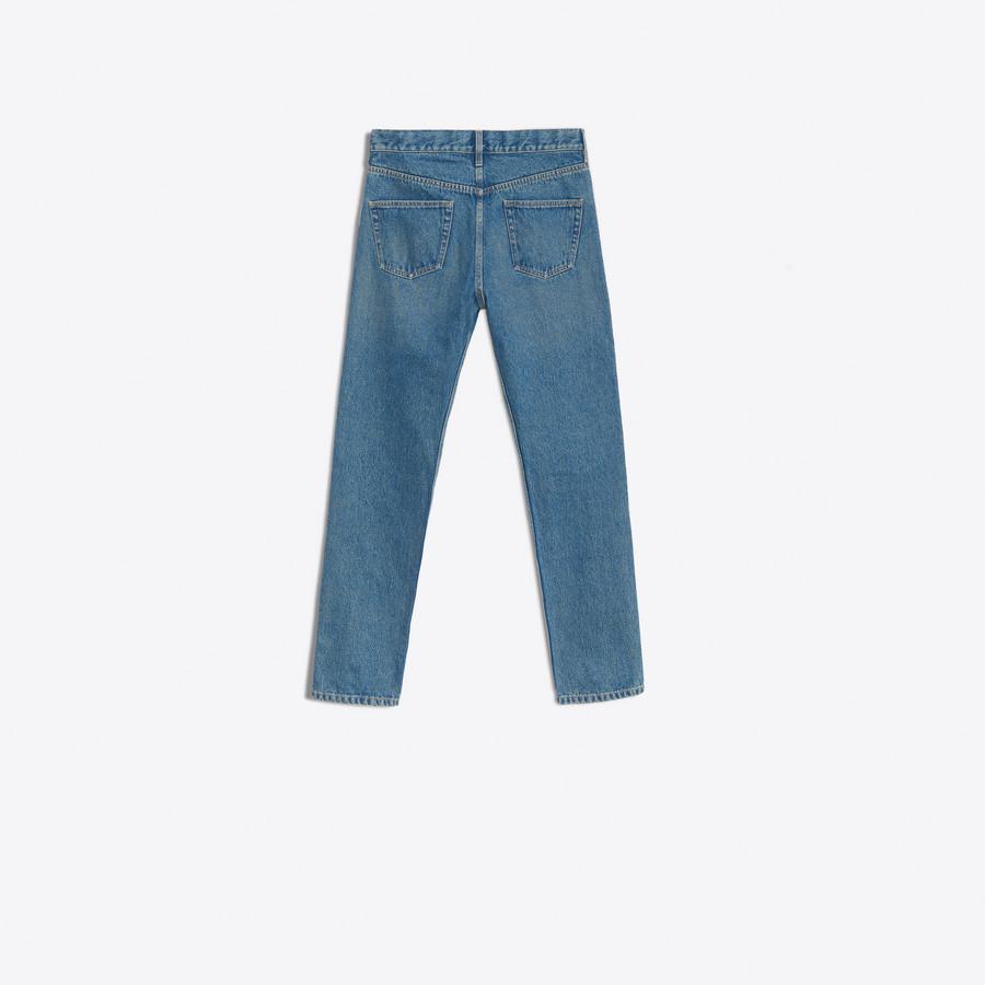 skinny jeans mit l chern auf knieh he marineblau f r ihn balenciaga. Black Bedroom Furniture Sets. Home Design Ideas