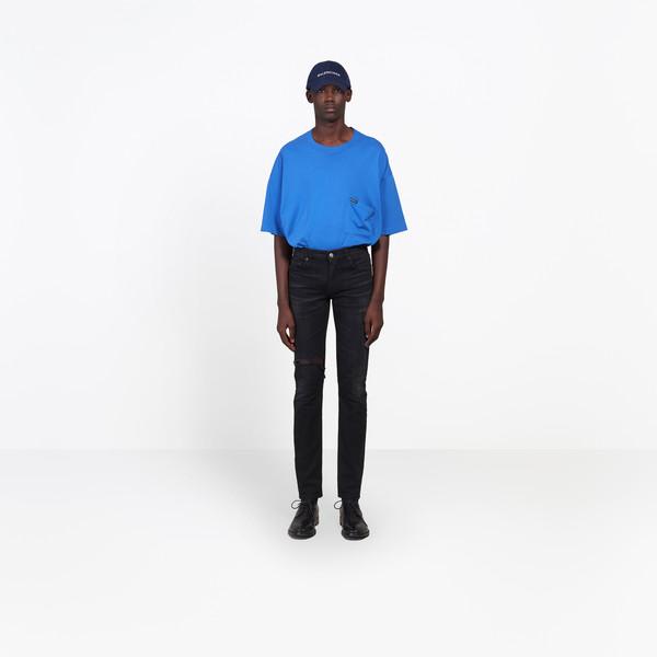 BALENCIAGA Pants Man Knee Hole Skinny Jeans g