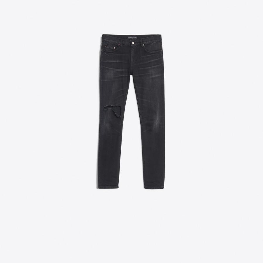 BALENCIAGA Knee Hole Skinny Jeans Pants Man f