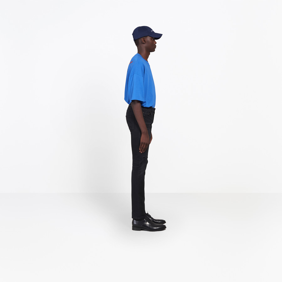 BALENCIAGA Knee Hole Skinny Jeans Pants Man i