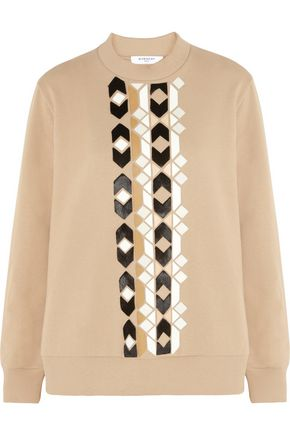 GIVENCHY Sand patchwork sweatshirt