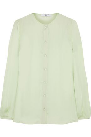 GIVENCHY Silk-charmeuse blouse with back band