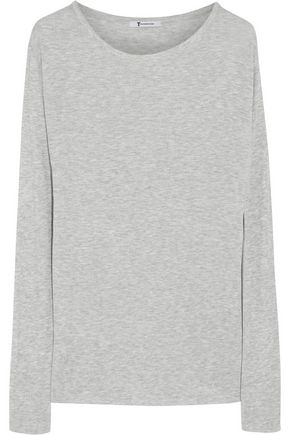 T by ALEXANDER WANG Ribbed stretch-jersey top