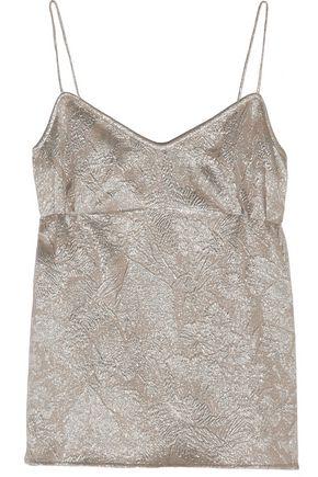 ROCHAS Metallic silk-blend jacquard camisole