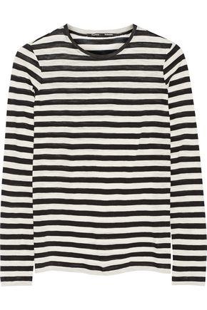 PROENZA SCHOULER Striped slub cotton top
