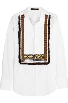 ETRO Embellished cotton-poplin shirt