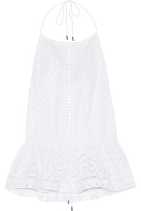 ZIMMERMANN Ryker broderie anglaise cotton top