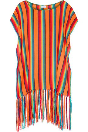 MIGUELINA Vega striped knitted poncho