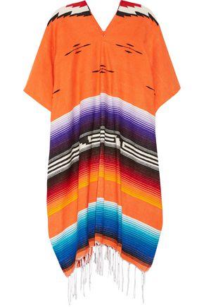 MIGUELINA Iztec fringed knitted poncho