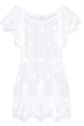MIGUELINA Mila crocheted cotton coverup