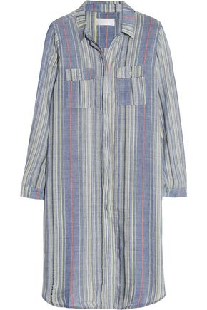 ZIMMERMANN Marisol striped wool-blend shirt dress