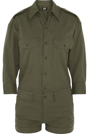 NLST Officer's cotton-twill playsuit