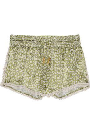 PALOMA BLUE Paloma printed silk-satin shorts