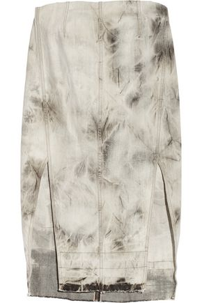 RICK OWENS Tie-dyed denim tunic