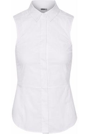 MM6 MAISON MARGIELA Voile-paneled cotton-blend poplin shirt ...