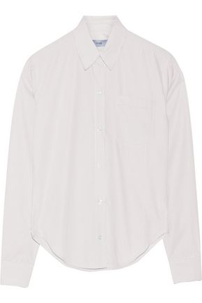 TITLE A Pinstriped poplin shirt