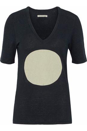 ISABEL MARANT ÉTOILE Printed slub linen T-shirt