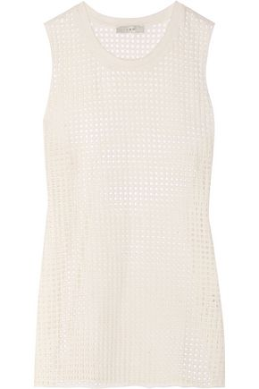 IRO Bennett cotton-mesh top