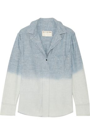 RAG & BONE Leeds dégradé cotton-chambray shirt