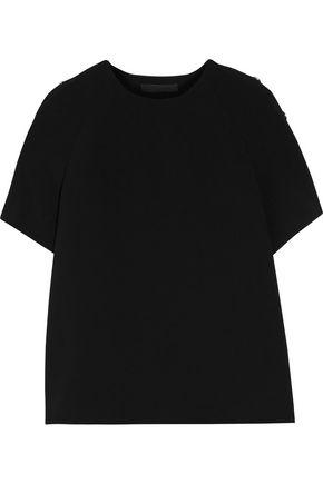 ALEXANDER WANG Embellished crepe T-shirt