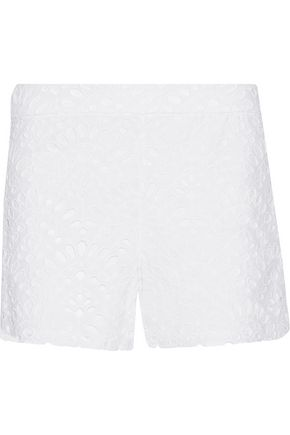 ALICE + OLIVIA Eyelet cotton shorts