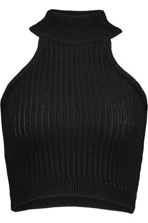 CUSHNIE ET OCHS Cropped ribbed-knit top