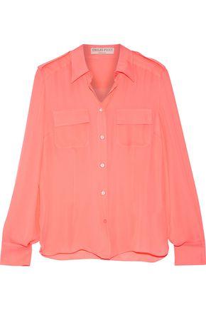 EMILIO PUCCI Neon silk-georgette shirt