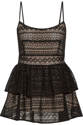 MARISSA WEBB Belinda tiered pleated lace top