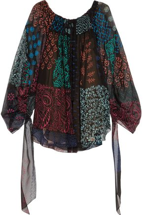 CHLOÉ Printed silk-georgette blouse