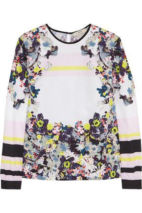 ERDEM Floral-print cotton-poplin blouse