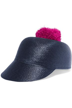 EUGENIA KIM Quinn pompom-embellished woven cap