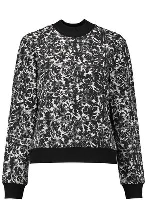 TORY BURCH Printed stretch-jersey sweater