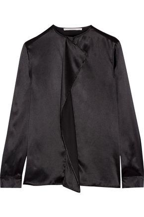 STELLA McCARTNEY Goldie draped silk-charmeuse top