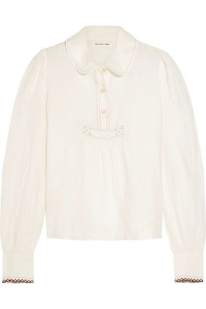 ISABEL MARANT ÉTOILE Gathered linen blouse