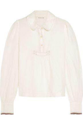 ISABEL MARANT ÉTOILE Daloa stitched linen blouse