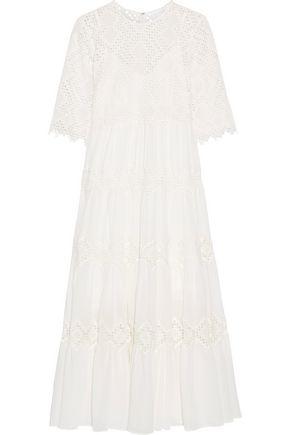 ZIMMERMANN Oleander lace-paneled cotton-voile midi dress