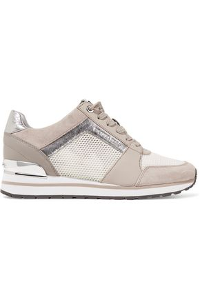MICHAEL MICHAEL KORS Billie leather and suede-trimmed mesh sneakers