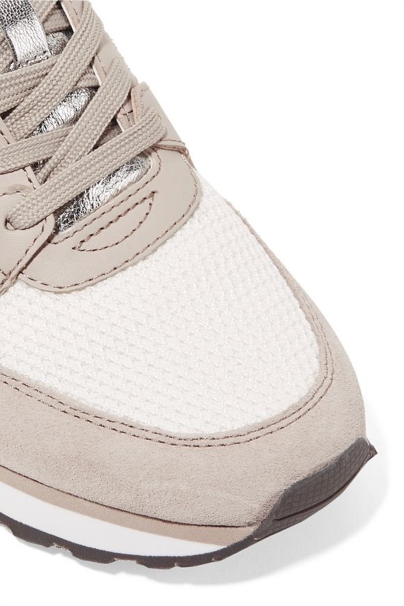 89307f5cbd1e Billie leather and suede-trimmed mesh sneakers