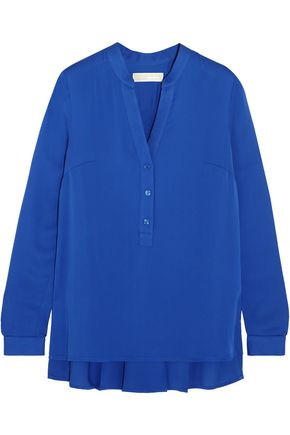 MICHAEL MICHAEL KORS Pleated silk crepe de chine blouse