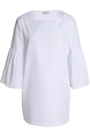 SUNO Gathered poplin blouse