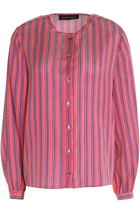 VANESSA SEWARD Danais striped silk-jacquard blouse