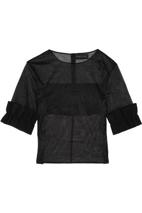 PASKAL Paneled organza top