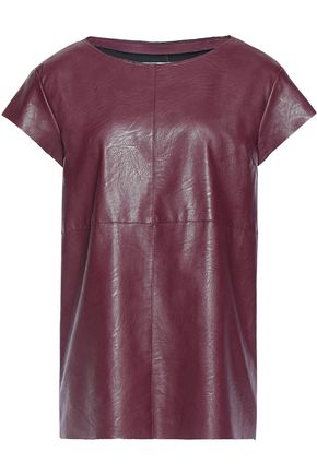 MM6 MAISON MARGIELA Coated faux leather top