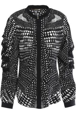 ROBERTO CAVALLI Printed silk-chiffon top