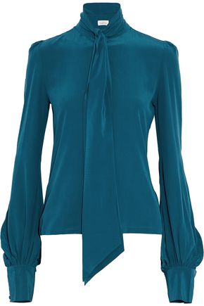 TALITHA Washed-silk blouse