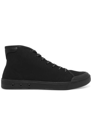 RAG & BONE Leather-trimmed canvas high-top sneakers