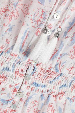 ZIMMERMANN Zephyr printed cotton-voile playsuit
